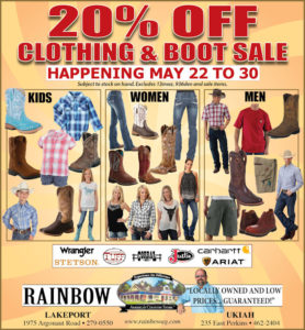 Spring Clothing Sale May 22 - 30