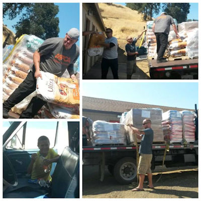 Donation of pet food and supplies from Central Pet