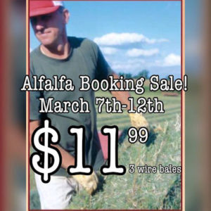 alfalfa sale - $11.99 per bale