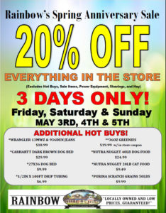 Spring Anniversary Sale May 3, 4 & 5